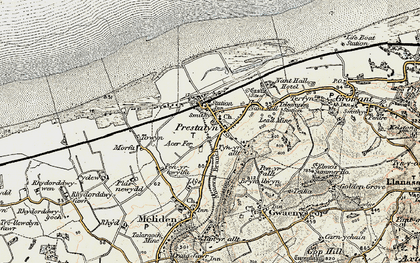 Old map of Prestatyn in 1902-1903