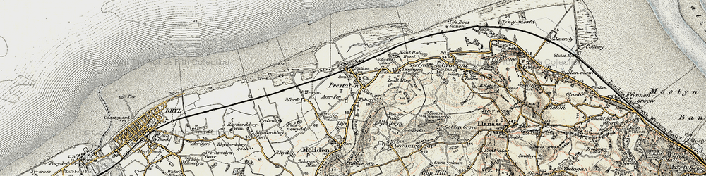 Old map of Prestatyn in 1902-1903