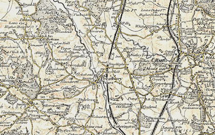 Old map of White Gables in 1902-1903