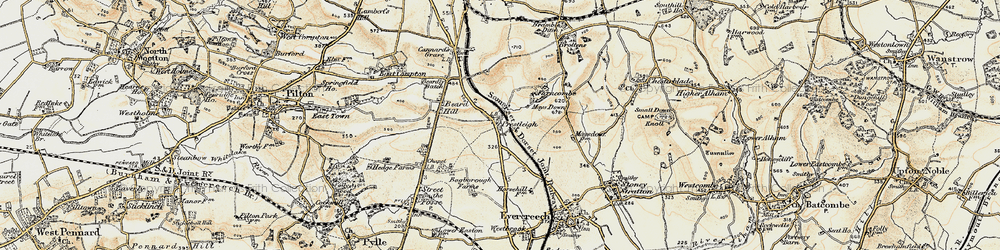 Old map of Agricultural Show Ground in 1899
