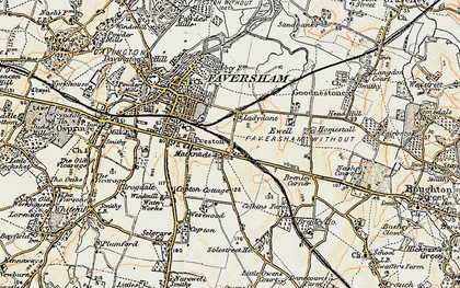 Old map of Westwood Court in 1897-1898