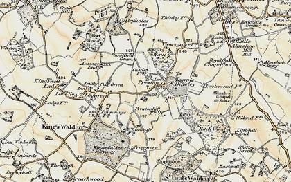 Old map of Preston in 1898-1899