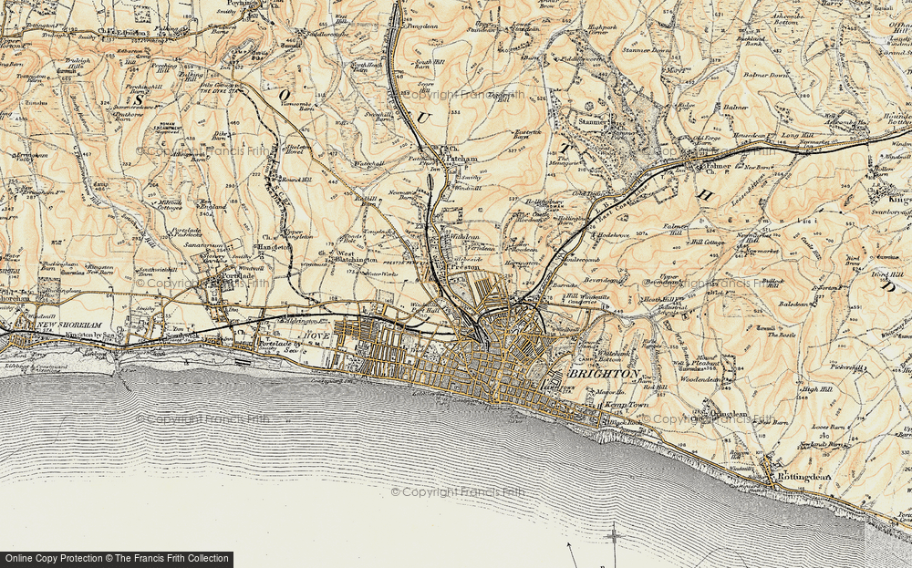 Old Map of Preston, 1898 in 1898