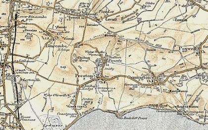 Old map of White Horse Hill in 1899