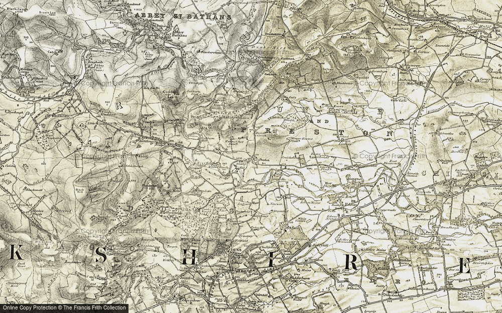 Old Map of Historic Map covering Baird's Covert in 1901-1904