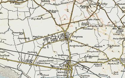 Old map of Preston in 1903-1908