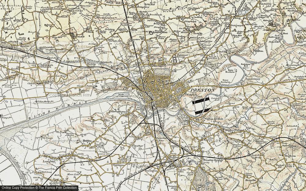 Preston England Map.Old Maps Of Preston Francis Frith