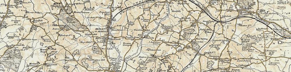 Old map of Preston Bagot in 1899-1902