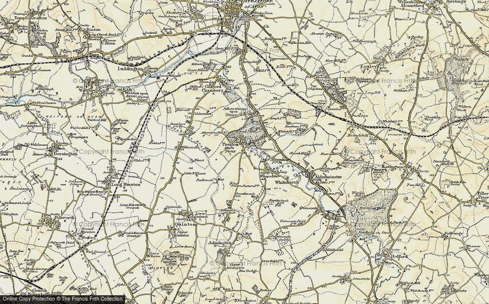Old Map of Preston on Stour, 1899-1901 in 1899-1901