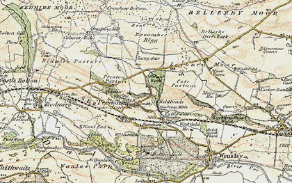 Old map of Layburn Moor in 1903-1904