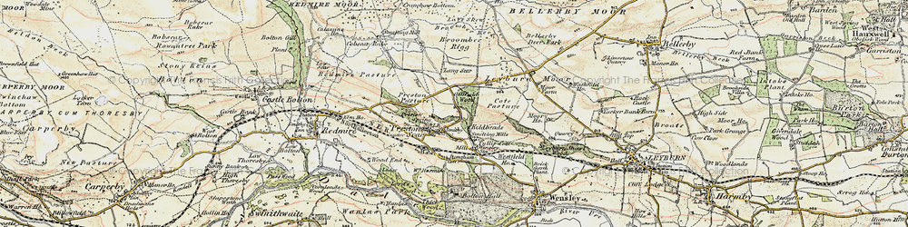 Old map of Lang Scar in 1903-1904