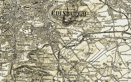 Old map of Arthur's Seat (Fort) in 1903-1904