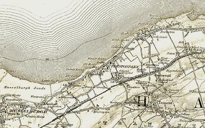 Old map of Prestonpans in 1903-1906