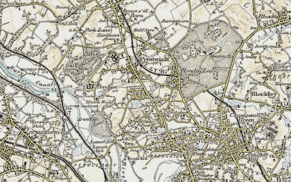 Old map of Prestwich in 1903