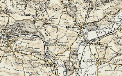Old map of Wootton Lodge in 1902
