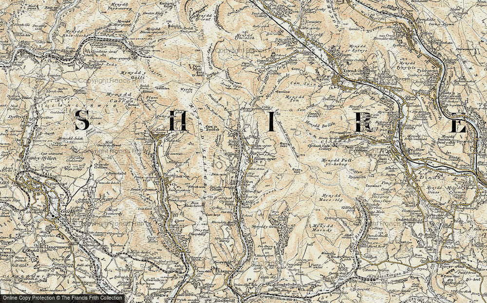 Old Map of Price Town, 1899-1900 in 1899-1900