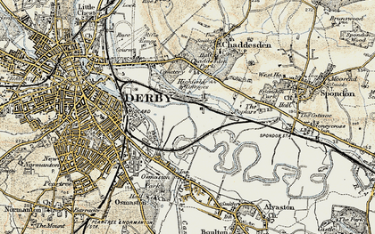 Old map of Pride Park in 1902-1903
