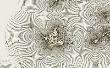 Old map of Acairseid Eilean a' Chlèirich in 1908-1910