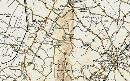 Old map of Asmall Ho in 1902-1903