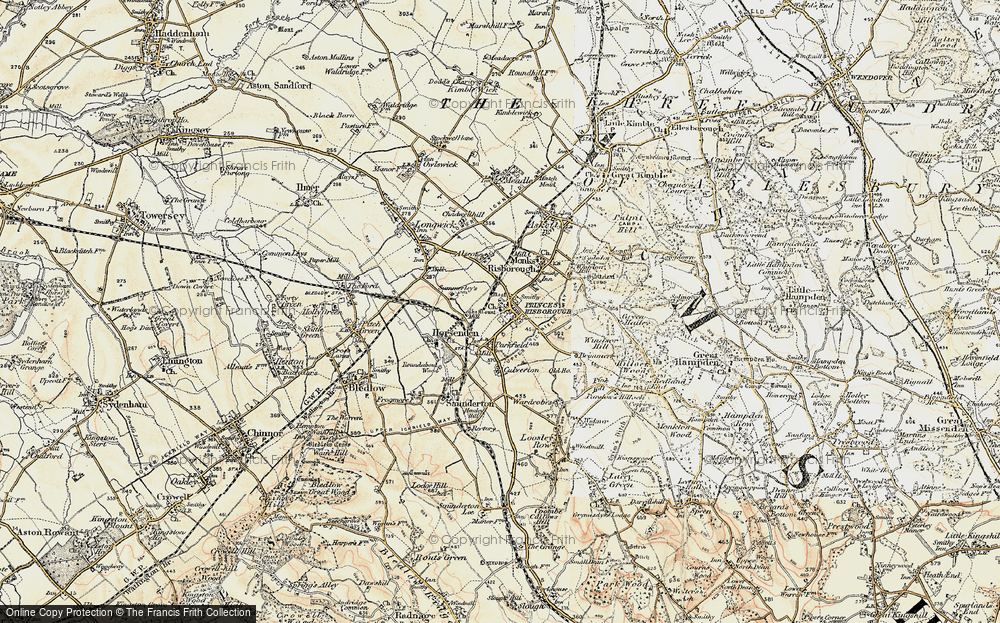 Old Map of Princes Risborough, 1897-1898 in 1897-1898