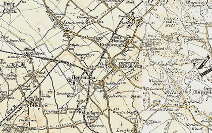 Old map of Princes Risborough in 1897-1898