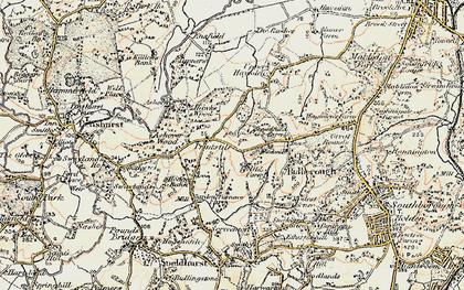 Old map of Ashour Wood in 1897-1898