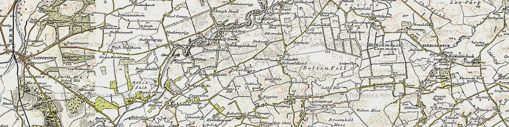 Old map of Whitecloserigg in 1901-1904