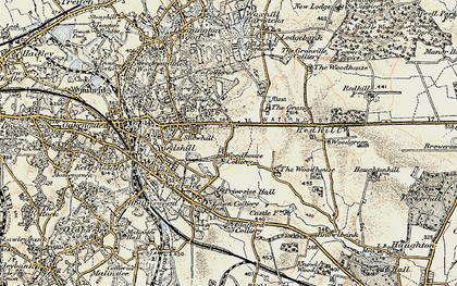 Old map of Priorslee in 1902