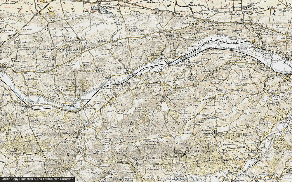 Old Map of Prudhoe, 1901-1904 in 1901-1904