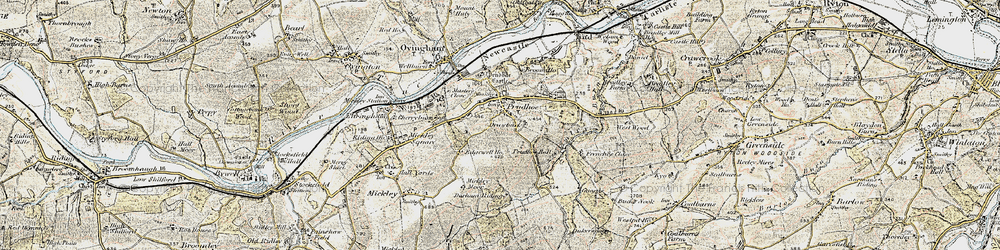 Old map of Prudhoe in 1901-1904