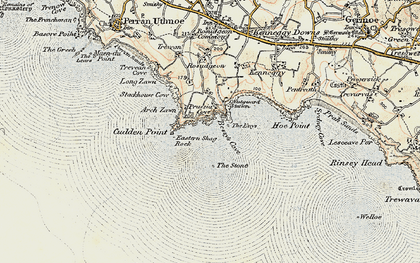 Old map of Acton Castle in 1900