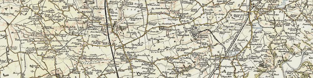Old map of Whittingham Ho in 1903-1904