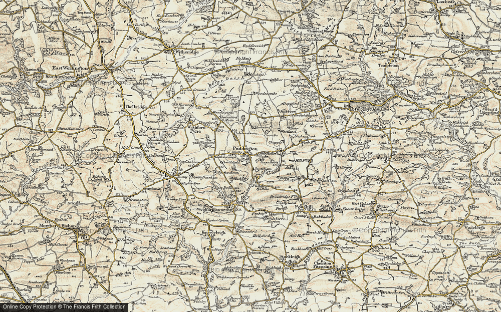 Old Map of Historic Map covering Bamson in 1899-1900