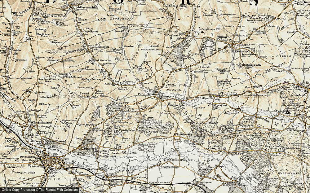 Old Map of Historic Map covering Bardolf Manor in 1897-1909