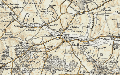 Old map of Bardolfeston Village in 1897-1909