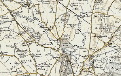 Old map of Whitleyford Br in 1902