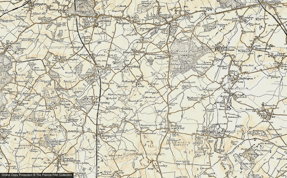 Old Map of Pulloxhill, 1898-1899 in 1898-1899