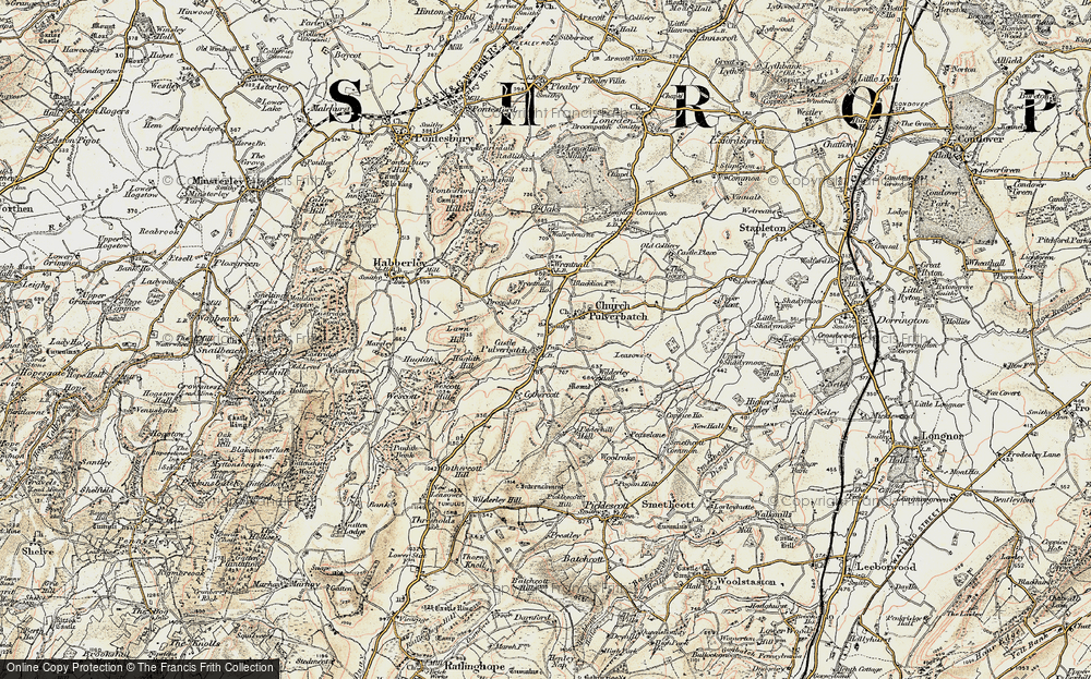 Old Map of Historic Map covering Lawn Hill in 1902-1903