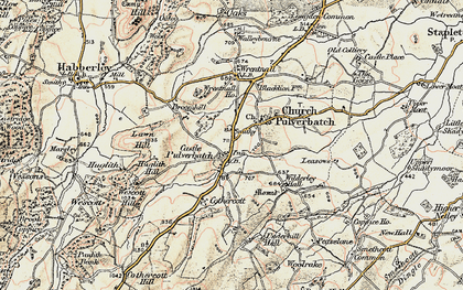 Old map of Lawn Hill in 1902-1903