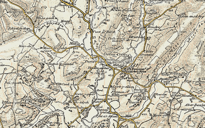 Old map of Ynysau in 1900-1902