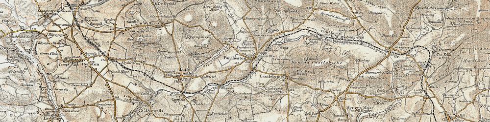 Old map of Windy Hill in 1901-1912