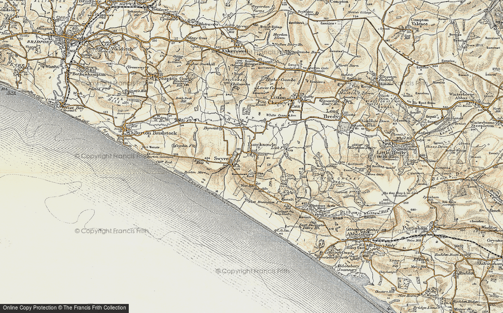 Old Map of Historic Map covering Limekiln Hill in 1899