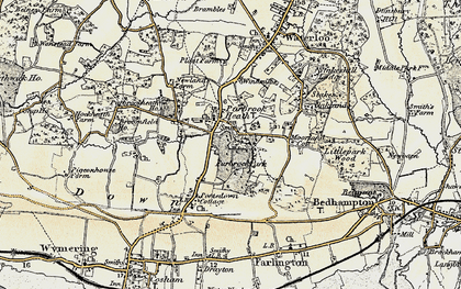 Old map of Purbrook in 1897-1899