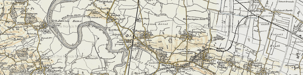 Old map of Puriton in 1898-1900