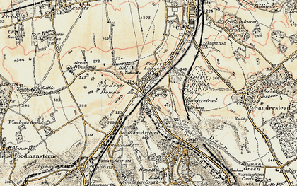 Old map of Purley in 1897-1902