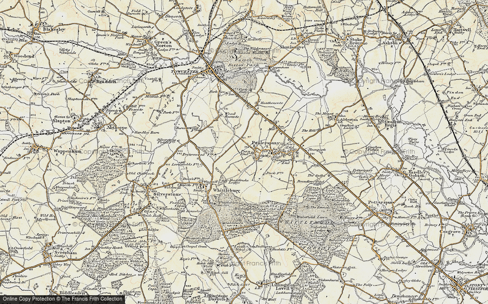 Old Map of Pury End, 1898-1901 in 1898-1901