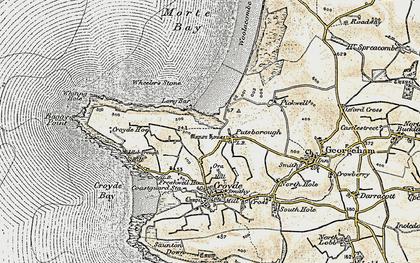 Old map of Putsborough in 1900
