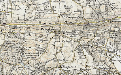 Old map of Lascombe in 1898-1909