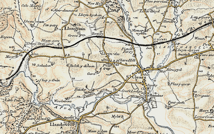 Old map of Zabulon in 1901