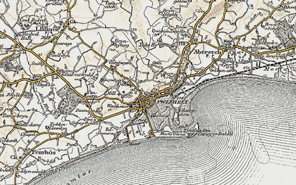 Old map of Allt Fawr in 1903
